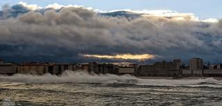 El viento sobre las olas...