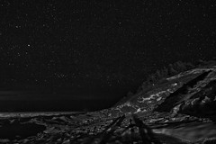 23/365: Shadows amongst the Heavens (SPT Photographe (seanthibert.com)) Tags: ocean trees shadow sky bw white canada black tree water nova silhouette contrast canon stars star coast harbor long exposure skies shadows cove hill silhouettes sigma atlantic east hills scotia starry maritimes coasts livingstone antigonish