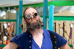 Curlicues ect. (LarryJay99 ) Tags: people hairy male men guy face sunglasses festival beard glasses florida masculine manly crowd goggles guys pit dude males mustache renaissancefestival dudes stud studs southflorida virile photospecs canonefs18135mmf3556is ilobsterit itsmen