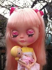 My pink-ribbon girl