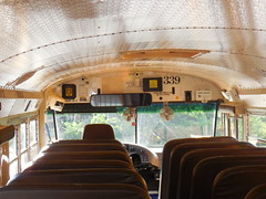 Inside First Student #339 (ThoseGuys119) Tags: 2001 silent interior international inside schoolbus mate retired theft witness 3800 zonar pinebushny firststudentinc vision:sunset=0688 vision:car=0552 vision:outdoor=0624 vision:sky=0858