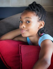 Saturday Morning (H.Blue1) Tags: camera blue light portrait cute window girl beautiful face canon hair photo eyes chair natural young lips reflector t3i 600d pertty