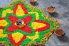 Kolam (jefgan) Tags: india malaysia diwali kolam deepavali ponggal colouredrice
