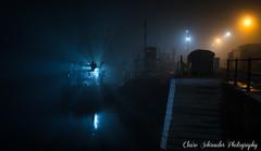 Foggy for Fishermen (Heathcliffe2) Tags: sea mist fog night lights pier boat ship fishermen douglas isleofman