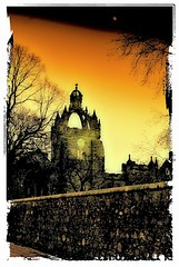 King's College Chapel - Polaroid Transfer Effect (Gordon M Robertson) Tags: uk scotland aberdeenshire aberdeen gordonrobertson