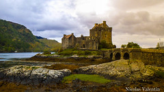 Eileen Donan Castle (Nicolas Valentin) Tags: sea sky cloud castle beach water weather stone clouds scotland bravo scenery europe alba scenic adventure explore eileen donan ecosse eileendonancastle abigfave aplusphoto