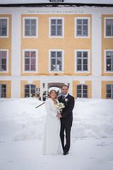 Wedding (Ralph Welin) Tags: life flowers winter wedding roses people woman white house snow man cold flower love church rose canon painting children happy photography eos hands couple day sitting hand sweden snowy ceremony husband wife sverige mansion ralph vsters peacefull 6d 2015 welin ramns