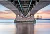 Underneath the Arches (petefoto) Tags: longexposure bridge bw lee monorail filters grad severnbeach secondseverncrossing newpassage nd110 nikond810 09s
