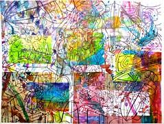 Christian Montone 2015 Blessed Complications (First Ink Layer) (Christian Montone) Tags: art ink watercolor artwork mixedmedia paintings workinprogress drawings kitsch retro popart inkdrawings montone midcentury christianmontone