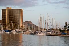 02072015_007_ (ALOHA de HAWAII) Tags: sunset hawaii oahu rainbowtower viewfrommagicisland diamondheadyachtharbor