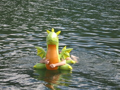 Dragon on water again (Arambajk) Tags: pool up toy blow collection inflatable float blowup inflatables drak pooltoy hračka nafukovací
