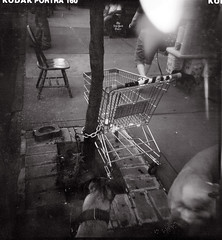 esme might like this (htcoogan) Tags: nyc bw newyork 120 film brooklyn square blackwhite holga kodak toycamera lightleak sidewalk gothamist clutter brooklynian htcoogan