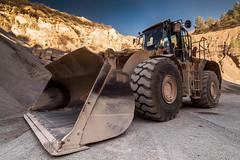Big wheels (noctuafoto) Tags: stone sand arena quarry roca cantera excavator excavadora