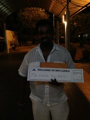 When i first arrived to Sri Lanka my driver was waiting:)