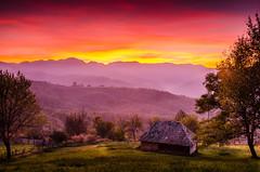 Nature's Art (DomiKetu) Tags: travel sunset sky nature colors landscape nikon serbia ivanjica d5100