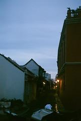 (Juliana M. M. Soares) Tags: sunset pordosol 35mm calle down rua cartagena