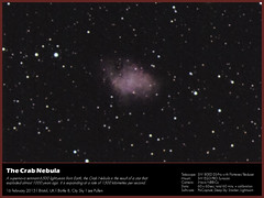 "The Crab Nebula (Lee ""Pulitzer"" Pullen) Tags: m1 telescope astrophotography astrophoto refractor amateurastronomy deepskyobject supernovaremnant messier1 amateurastrophotography thecrabnebula skywatchereq3pro skywatcherevostar80eddspro inovanbbcx"
