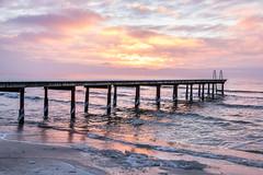 Dock at sunrise (Infomastern) Tags: winter cold vinter dock frost rime brygga rimfrost kallt skateholm