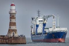 'BBC Emsland', Roker, Sunderland (DM Allan) Tags: lighthouse coast ship cargo sunderland roker wearside portofsunderland bbcelmsland