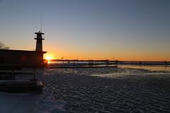 Tenney Park (JayLev) Tags: sunset lighthouse lake madison mendota