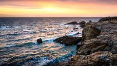 Ocean Vibe (Ornaim) Tags: ocean sunset sea sun seascape france nature water landscape golden coast nikon brittany stitch hard wave bretagne panoramic 03 filter lee hour cote 06 tamron sauvage quiberon d610 gnd