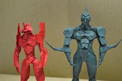 Guyver & Eva (shuki.kato) Tags: anime japan origami eva box manga super complex kato evangelion pleating shuki guyver