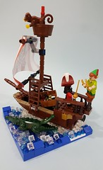 Peter Pan and Captain Hook (Angela CYC) Tags: lego disney minifigures