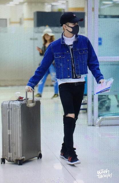 160504 Taemin @ Aeropuerto Gimpo {Llegada a Corea} 26776389081_5cdf8ae5d6_z