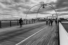 Pier mono (tabulator_1) Tags: monochrome clouds mono blackwhite southport southportpier