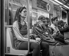 NYC-3.jpg (Patti Houston) Tags: nyc people blackandwhite bw ny newyork subway thebigapple