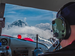 Denali 2 O'Clock (endrunner) Tags: snow landscape aviation aerial glacier cloudscape