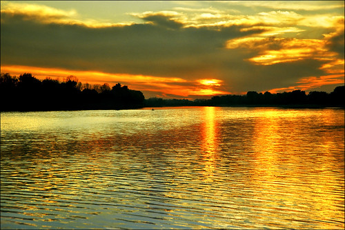 Sunset on the lake Ada Ciganlija, part V