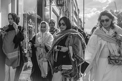 Fashionable girls on the move (csloth) Tags: street girls london fashion photography moving candid harrods busy