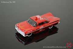 No. 591 | MAISTO | 1959 Chevrolet Impala Fire Chief (www.diecastfirecollection.com) Tags: chevrolet metal toy fire model chief collection 164 impala emergency feuerwehr bomberos department fuoco 1959 fd diecast pompiers maisto