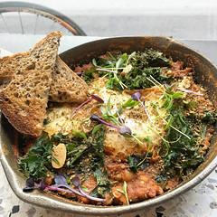 Baked eggs at Smk in South Yarra (ultrakml) Tags: food breakfast bread toast egg southyarra australia melbourne victoria iphoto smk appleiphone6splus