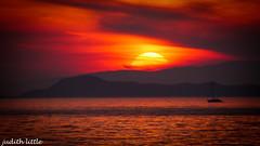 Silver Sands of Morar (mejud) Tags: sunset orange scotland view dusk rum isles eigg