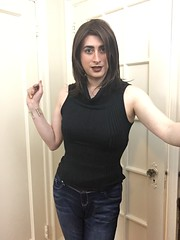 Cowl-neck Sweater and Jeans (SecretJess) Tags: girls girly cd femme tgirl lgbt transvestite casual trans crossdresser crossdress gurl tg bigender genderfluid girlslikeus
