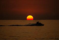 Sunset at sea (Albymus) Tags: sunset sea summer people sun holiday water sport fun watercraft tropea