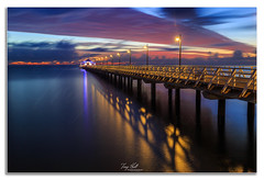 Shorncliffe Revisit (Troy Holt Photography) Tags: morning seascape colour beach water clouds sunrise canon dawn bay pier long exposure quiet jetty tide peaceful australia visit brisbane filter lee queensland 6d moreton shorncliffe