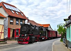 Wernigerode Harz Germany 18th May 2016 (loose_grip_99) Tags: street railroad train germany deutschland tank engine rail railway steam 99 transportation locomotive passenger harz narrowgauge wernigerode harzer schmalspurbahnen kirchstrasse 72472 gassteam 2100t
