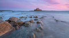 'Cwyfan Causeway' - Porth Cwyfan, Anglesey (Kristofer Williams) Tags: sunset sea seascape church wales landscape coast twilight dusk anglesey llangwyfan aberffraw churchinthesea stcwyfan porthcwyfan walescoastpath
