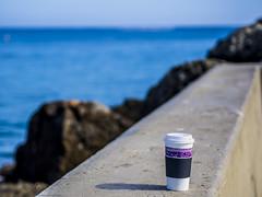 Coffee for One (Sareli0514) Tags: ocean ca beach clouds socal southerncalifornia orangecounty oc coronadelmar piratescove southcounty