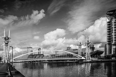 Millenium Bridge_Lowry_Salford Quays (alsimages1 - Thank you for 860.000 PAGE VIEWS) Tags: old city shopping manchester media sailing centre united bbc views shops trafford salford quays lowry aquatics