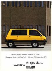 1976 Alfa Romeo Taxi Concept by Ital Design (aldenjewell) Tags: new york art museum modern design taxi alfa romeo concept brochure 1976 ital