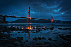 The Golden Gate Bridge - Happy 79th Birthday! (Andrew Louie Photography) Tags: life birthday bridge blue coffee dark landscape happy photography lights golden spring gate san francisco jazz stormy passion 79 2016 jazza
