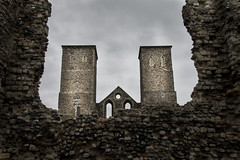 Reculver Towers (marc_morris1982) Tags: old sky building english heritage beach church monument architecture clouds canon outside outdoors grey coast kent ancient ruins cloudy roman dusk towers sigma structure coastline flint canoneos 18200 englishheritage reculver 18200mm sigma18200 sigma18200mm apsc reculvertowers sigmadc canon70 canonuk canon70d eos70d eos70