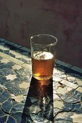 Th  la menthe (michel nguie) Tags: michelnguie fes fs fez marocco africa table glass mintflavoredtea vertical