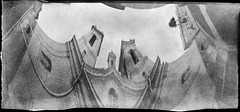 Twisted Baroque (batuda) Tags: pinhole paper anamorphic bw kodak polymax d76 church baroque kaunas bernardinai architecture building twisted 360 distortion analogue cityscape wideangle wide lithuania inexplore