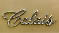 Calais (GmanViz) Tags: color detail car nikon automobile cadillac chrome badge type script calais 1965 gmanviz d7000