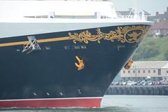 Drop the .. (quintinsmith_ip) Tags: sea people river fun ship down tourist disney passenger passing shipping southshields waltdisney disneymagic rivertyne